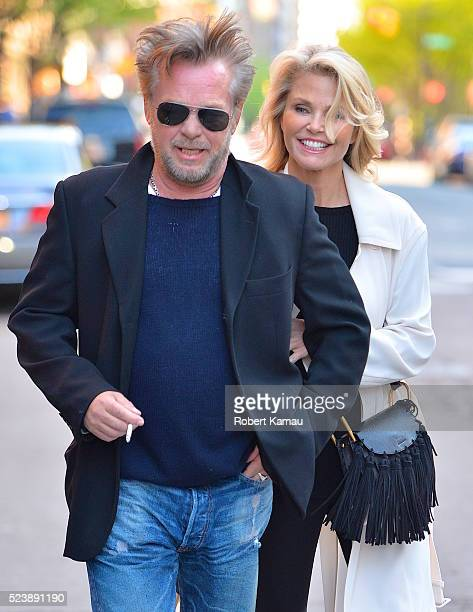 John Mellencamp and Christie Brinkley seen in Tribeca on April 24 2016 in New York City