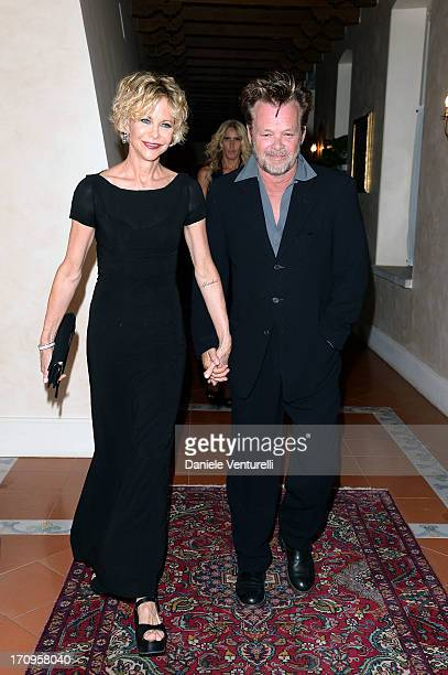 John Mellencamp and Meg Ryan attend Taormina Filmfest 2013 2013 at Teatro Antico on June 20 2013 in Taormina Italy