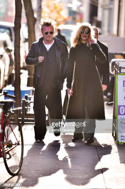 John Mellencamp and Meg Ryan seen on the streets of Manhattan on December 3 2018 in New York City
