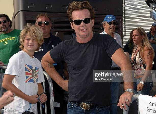 John Mellencamp Backstage at Farm Aid 2007 at ICAHN Stadium on Randall's Island NY September 92007