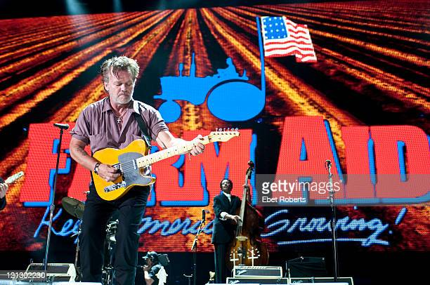 John Mellencamp performing at the Farm Aid Concert at LiveStrong Sporting Park on August 13 2011 in Kansas City Kansas