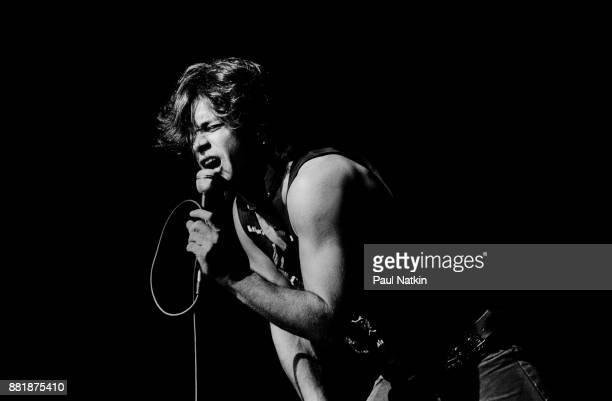 John Mellencamp performing at the Poplar Creek Music Theater in Hoffman Estates Illinois August 23 1982