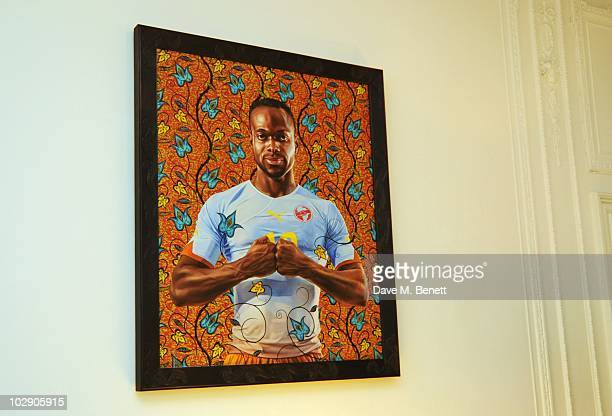 """John Mensah"""" by Kehinde Wiley is auctioned at a fundraising dinner for The Zeitz Foundation on July 14, 2010 in London, England."""