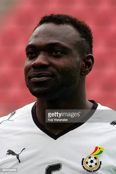 John Mensah of Ghana look on the international friendly match between Ghana and Japan at Stadion Galgenwaard on September 9 2009 in Utrecht...