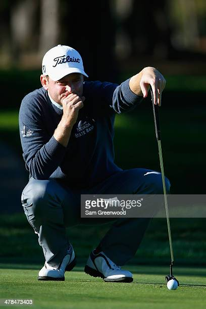 John Merrick plays the 7th hole during the first round of the Valspar Championship at Innisbrook Resort and Golf Club on March 13 2014 in Palm Harbor...