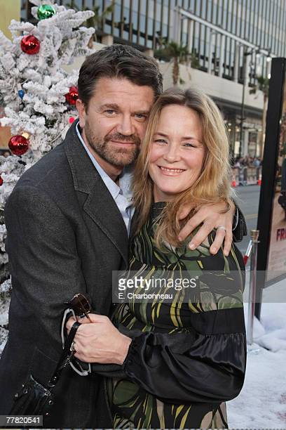 John Michael Higgins and Margaret Welsh at the Premiere of Warner Bros FRED CLAUS at Grauman's Chinese Theatre on November 3 2007 in Los Angeles...