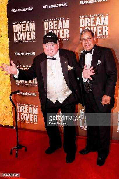 John Michael Howson and Alfie Duran attends opening night of Dream Lover The Bobby Darin Musical at Melbourne Arts Centre on December 31 2017 in...