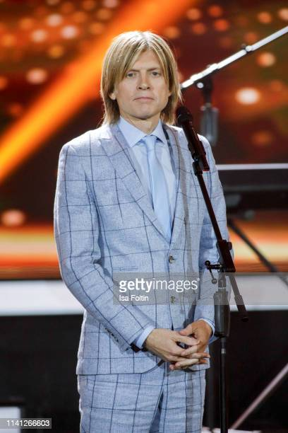 John Michael Kelly a memeber of the Kelly Family during the television show 'Willkommen bei Carmen Nebel' at Velodrom on May 4 2019 in Berlin Germany