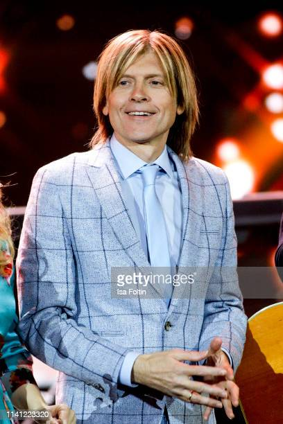 John Michael Kelly memeber of the Kelly Family during the television show 'Willkommen bei Carmen Nebel' at Velodrom on May 4 2019 in Berlin Germany