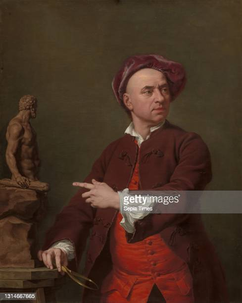 John Michael Rysbrack Modelling His Terra-Cotta Statue of Hercules, Andrea Soldi, 1703–1771, Italian, active in Britain Oil on canvas, Support : 45...
