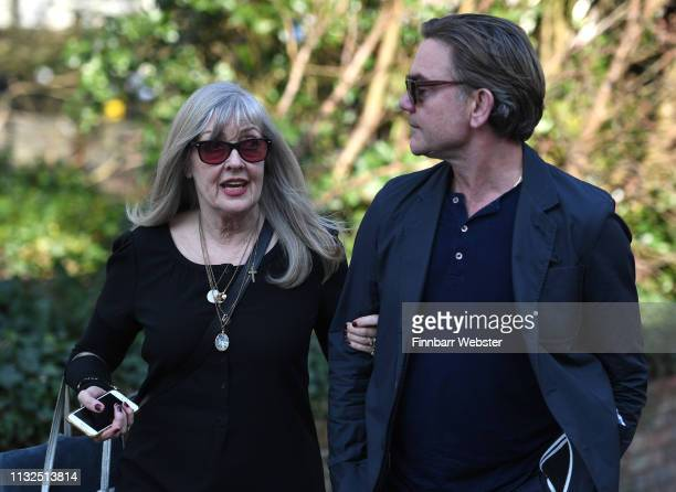 John Michie and Carol FletcherMichie parents of Louella FletcherMichie on February 27 2019 in Winchester England Ceon Broughton is on trial for...
