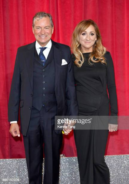 John Middleton and Charlotte Bellamy attend the British Soap Awards at The Lowry Theatre on June 3 2017 in Manchester England