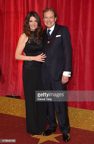 John Middleton and wife Christine attend the British Soap Awards at Manchester Palace Theatre on May 16 2015 in Manchester England