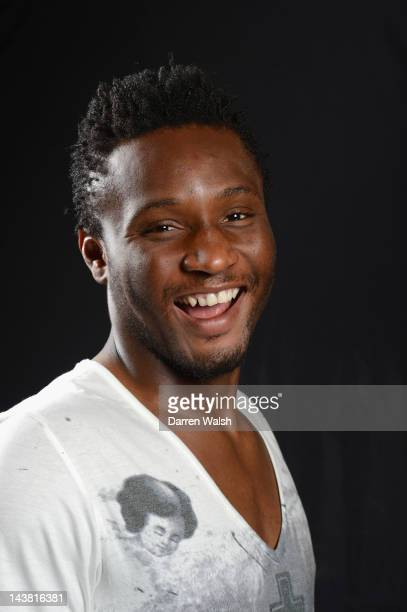 John Mikel Obi of Chelsea poses during a portrait session at the Cobham training ground on April 16, 2012 in Cobham, England.