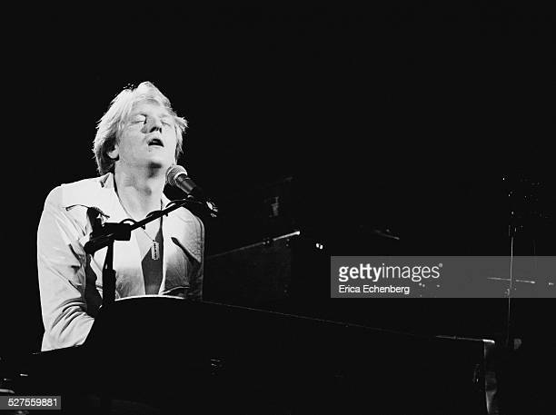 John Miles performing on stage at the Hammersmith Odeon, London, United Kingdom, 1976.