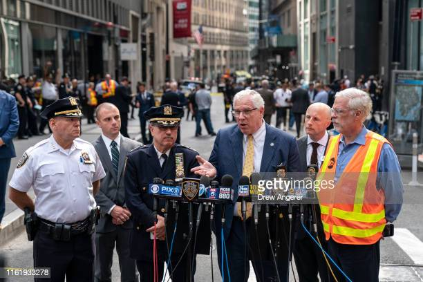John Miller, Deputy Commissioner of Intelligence and Counterterrorism for the NYPD, speaks to the press near the scene of a suspicious package near...