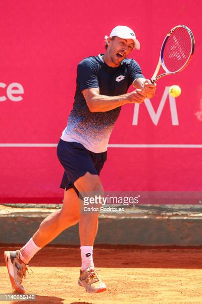 John Millman from Australia in action during the match of Round 1 between Bernard Tomic from Australia and John Millman from Australia during...