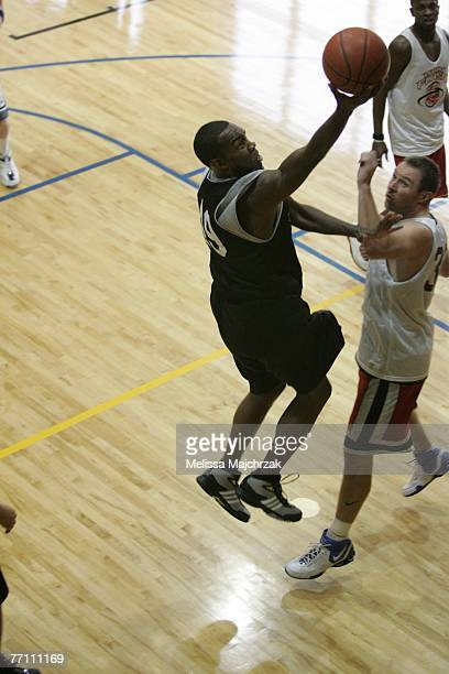 John Millsap goes up for the shot during the try outs for the Utah Flash DLeague team on September 29 2007 at the Open Court in Lehi Utah NOTE TO...