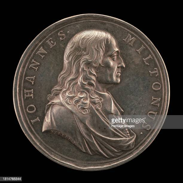 John Milton, 1608-1674, Poet [obverse], 1737. Artist John Sigismund Tanner.