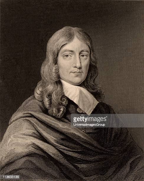 John Milton English poet born at Cheapside London Engraving British Literature