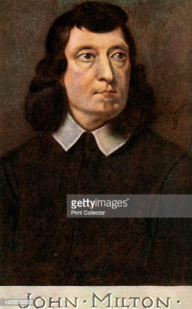 John Milton English poet early 20th century Milton's most famous work is his epic Paradise Lost first published in 1667 A Raphael Tuck Sons 'Oilette'...