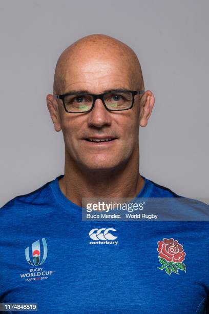 John Mitchell of The England backroom staff poses for a portrait during the England Rugby World Cup 2019 squad photo call on September 15, 2019 in...