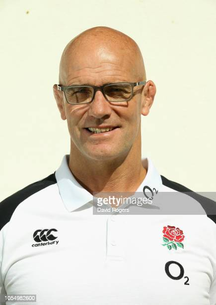 John Mitchell the England defence coach poses for a portrait during the England media session held at Browns Sports Club on October 29 2018 in...
