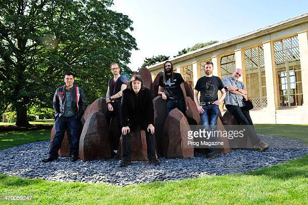 John Mitchell Tim Elsenburg Steve Hackett James Monteith Mike Holmes and Fish photographed as part of a roundtable discussion on contemporary...