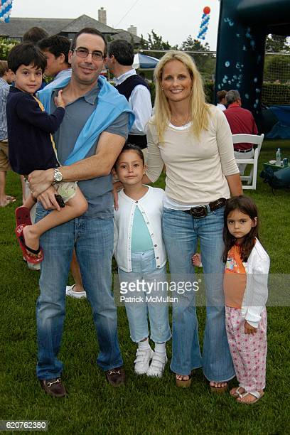 John Mnuchin, Steven Mnuchin, Dylan Mnuchin, Heather Mnuchin and Emma Mnuchin attend Southampton Fresh Air Home's 21st Annual American Picnic With...