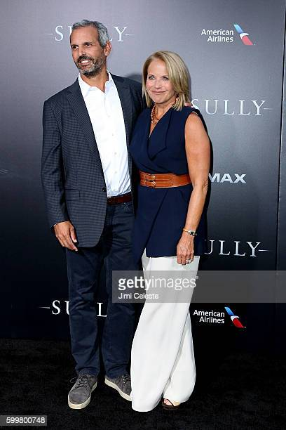 """John Mohner and Katie Couric attends The New York Premiere of Warner Bros. Pictures' and Village Roadshow Pictures' """"Sully"""" at Alice Tully Hall at..."""