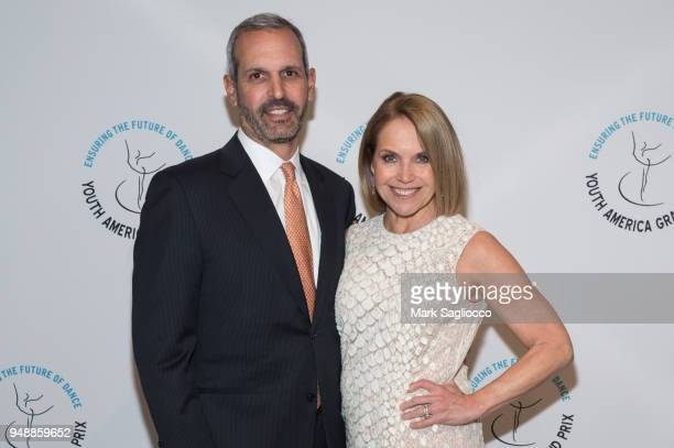 John Molner and Katie Couric attend the Youth America Grand Prix at David H Koch Theater at Lincoln Center on April 19 2018 in New York City