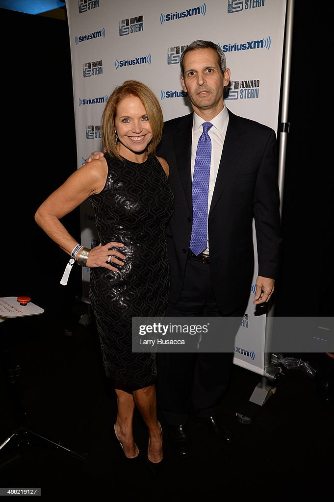 John Molner and Katie Couric attends 'Howard Stern's Birthday Bash' presented by SiriusXM, produced by Howard Stern Productions at Hammerstein Ballroom on January 31, 2014 in New York City.