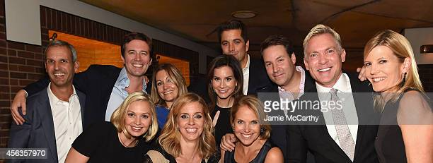 John Molner Jeff Glor Nikki Glor Rebecca Jarvis Josh Elliott Jeff Rossen Sam Champion Kate Snow Linzie Janis Olivia Metzger and Katie Couric attend...