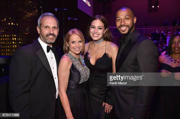 John Molner Katie Couric Ashley Graham and Justin Ervin attend 2017 Time 100 Gala at Jazz at Lincoln Center on April 25 2017 in New York City