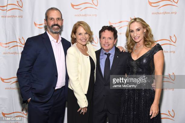 John Molner Katie Couric Michael J Fox and Tracy Pollan attend A Funny Thing Happened On The Way To Cure Parkinson's benefitting The Michael J Fox...