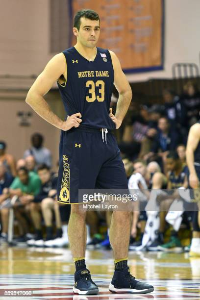 John Mooney of the Notre Dame Fighting Irish looks on during a semifinal college basketball game at the Maui Invitational against the LSU Tigers at...