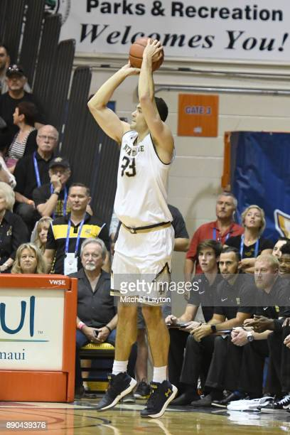 John Mooney of the Notre Dame Fighting Irish takes a jump shot during a the championship of the Maui Invitational college basketball game against the...