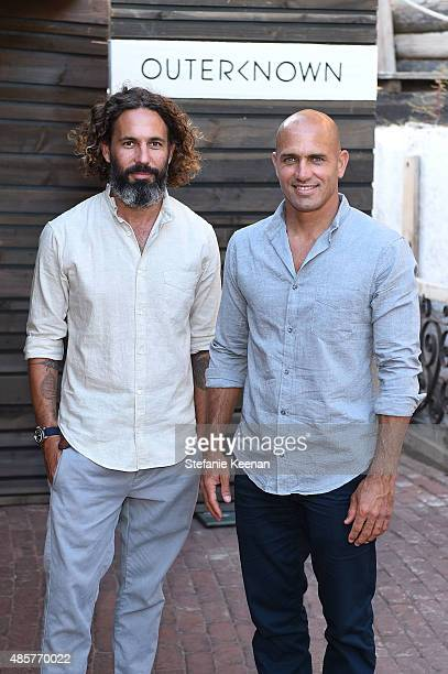 John Moore and Kelly Slater attend Kelly Slater John Moore and Friends Celebrate the Launch of Outerknown at Private Residence on August 29 2015 in...