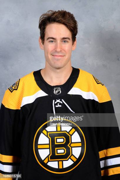 John Moore of the Boston Bruins poses for his official head shot for the 20182019 season on September 11 2018 at the Warrior Ice Rink in Watertown...