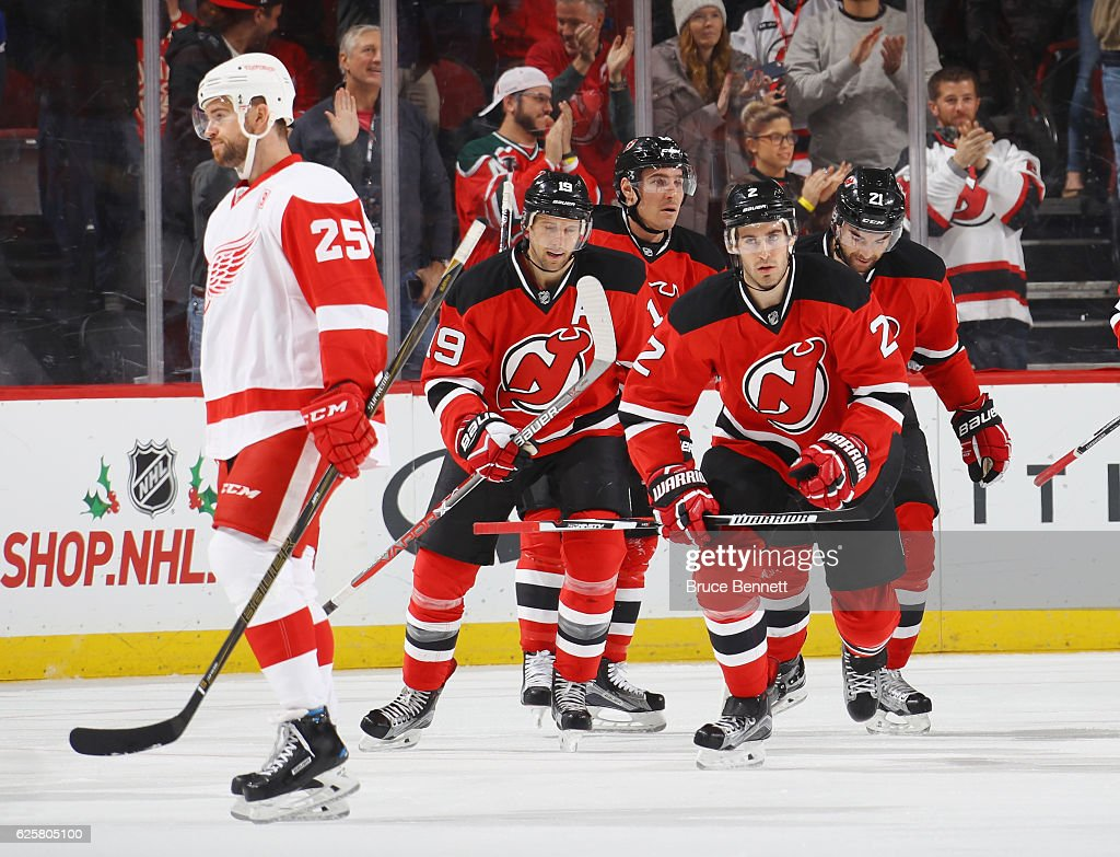 promo code 6810d bf3a2 John Moore of the New Jersey Devils celebrates his goal at 6 ...