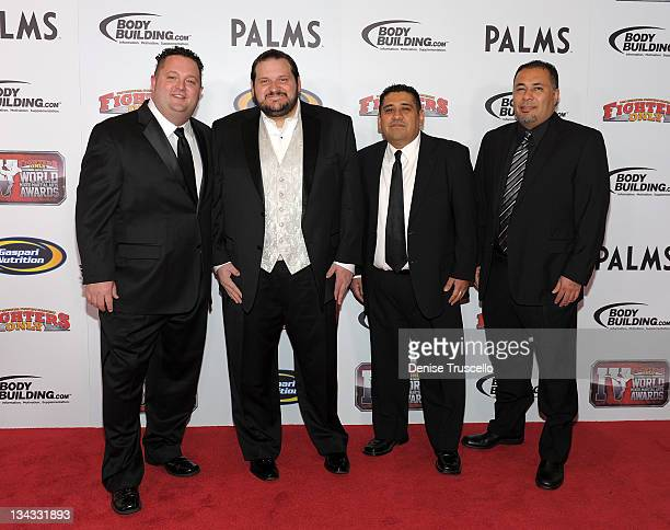 John Morgan, Dann Stupp , Brian Garcia and George Garcia arrive at the 2011 Fighters Only World Mixed Martial Arts Awards on November 30, 2011 in Las...