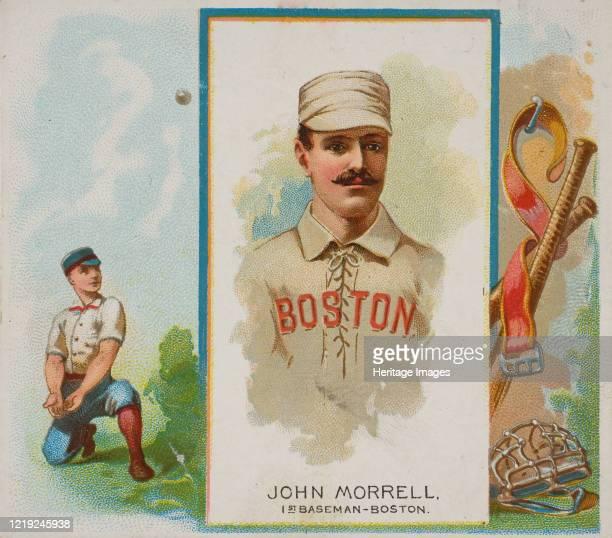 John Morrell 1st Baseman Boston from World's Champions Second Series for Allen Ginter Cigarettes 1888 Artist Allen Ginter