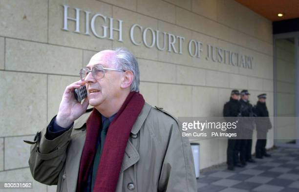 John Mosey who lost his 19yearold daughter Helga in the bombing of PAn Am flight 103 over Lockerbie in 1988 telephones friends back in the UK from...
