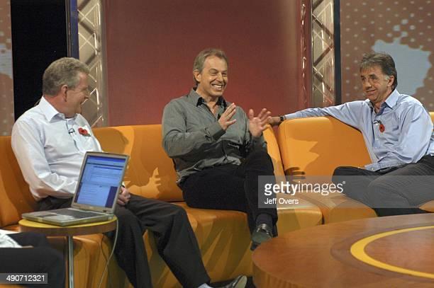 John Motson PM Tony Blair and Mark Lawrenson TX BBC ONE 5th November 2005