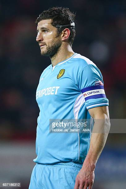John Mousinho of Burton Albion during the Sky Bet Championship match between Rotherham United and Burton Albion at The New York Stadium on December...