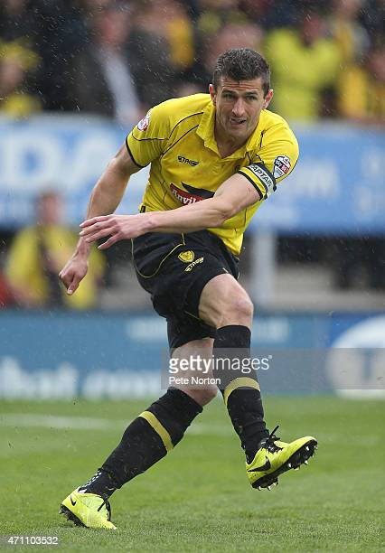 APRIL 25 APRIL 25 APRIL 25 APRIL 25 APRIL 25 John Mousinho of Burton Albion in action during the Sky Bet League Two match between Burton Albion and...