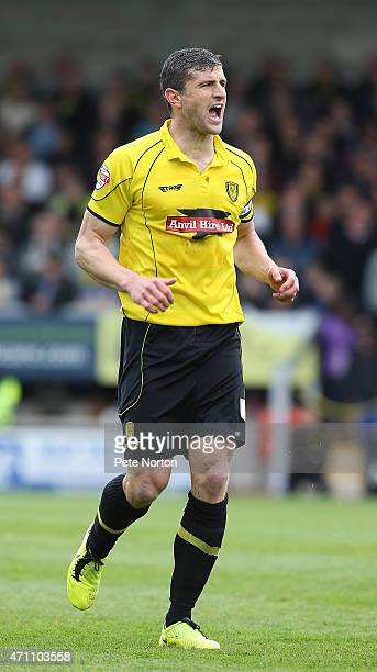 APRIL 25 IL 25 APRIL 25 APRIL 25 APRIL 25 APRIL 25 John Mousinho of Burton Albion in action during the Sky Bet League Two match between Burton Albion...