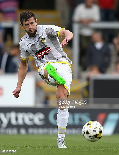John Mousinho of Burton Albion passes the ball during the pre season friendly match between Burton Albion and Wolverhampton Wanderers at the Pirelli...
