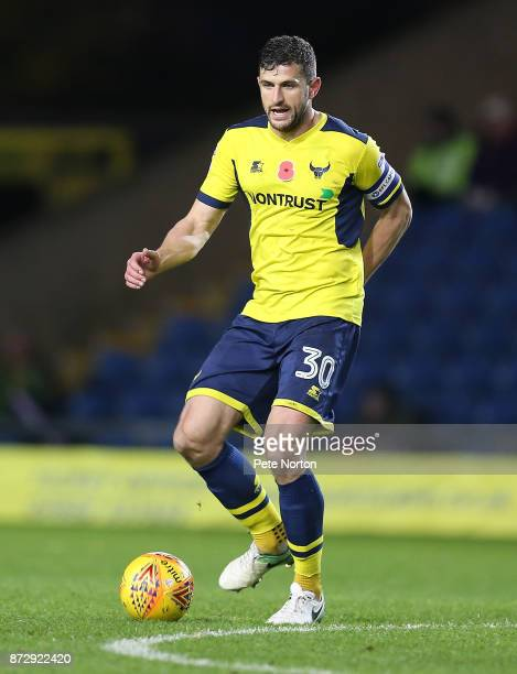 John Mousinho of Oxford United in action during the Sky Bet League One match between Oxford United and Northampton Town at Kassam Stadium on November...