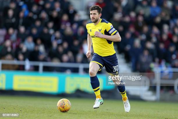 John Mousinho of Oxford United in action during the Sky Bet League One match between Northampton Town and Oxford United at Sixfields on February 24...